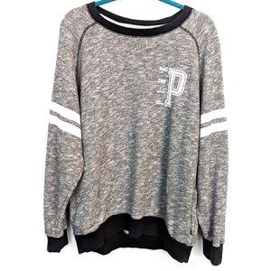 Victoria's Secret Pink | Gray Varsity Sweatshirt